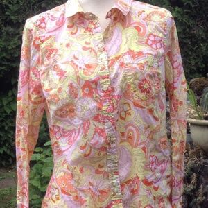 Old Navy Paisley blouse size XL